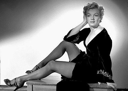 Miss Monroe en bas nylon !