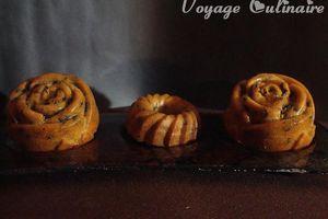 Muffins au lait de soja, sucre rapadura et pépites de chocolat