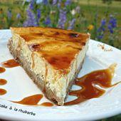 Cheesecake à la rhubarbe - Chez Vanda