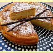 Gâteau magique à la vanille. - Oh, la gourmande..