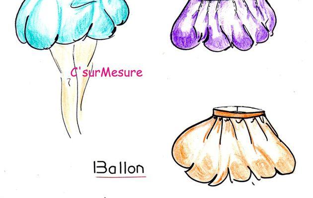Mode-elle : la jupe boule, ballon, bulle.