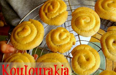 Les koulourakia de Pâques à l'orange et à la vanille