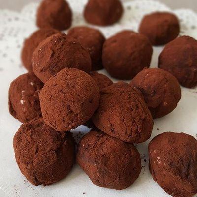 Truffes chocolat aux éclats d'amandes caramélisé
