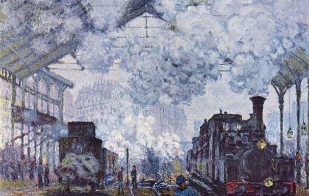 Claude Monet. Bahnhof Saint Lazare in Paris, Ankunft eines Zuges.1877, Öl auf Leinwand, 81,9 × 101cm.Cambridge (Massachusetts), Fogg Art Museum.Frankreich.Impressionismus. KO 00628