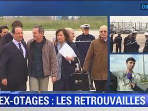 Les quatre journalistes ex-otages en Syrie sont arrivés en France