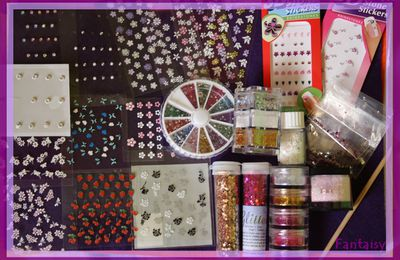 Strass. paillettes. Stickers ...