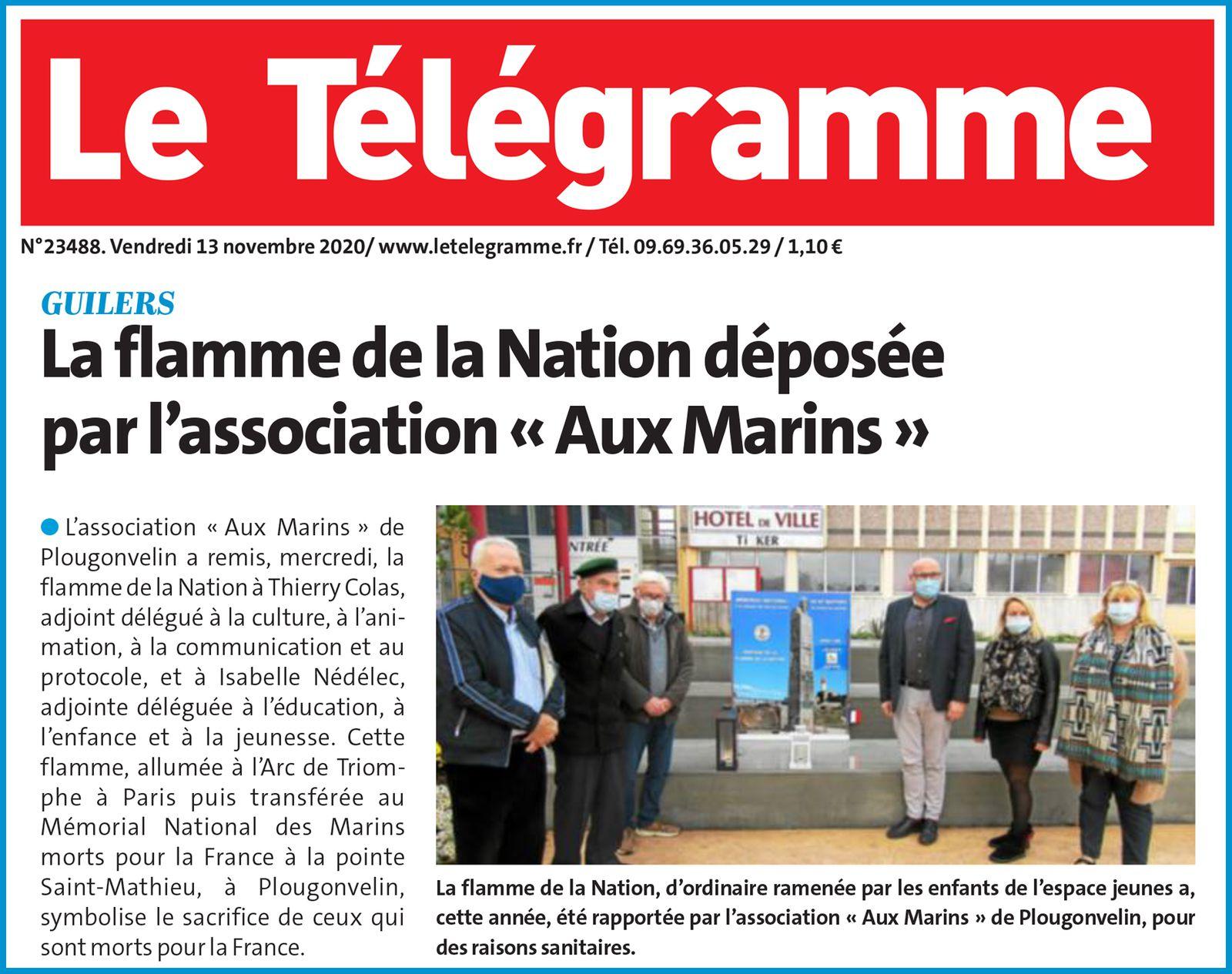 FLAMME DE LA NATION - PARTAGE AVEC LES COMMUNES