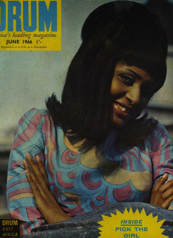 """The """"Drum"""" magazine and young women photographed by James Barnor."""
