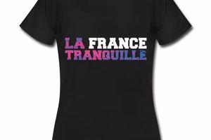 T shirt noir pour femmes La France tranquille