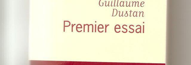 Premier essai. Guillaume Dustan