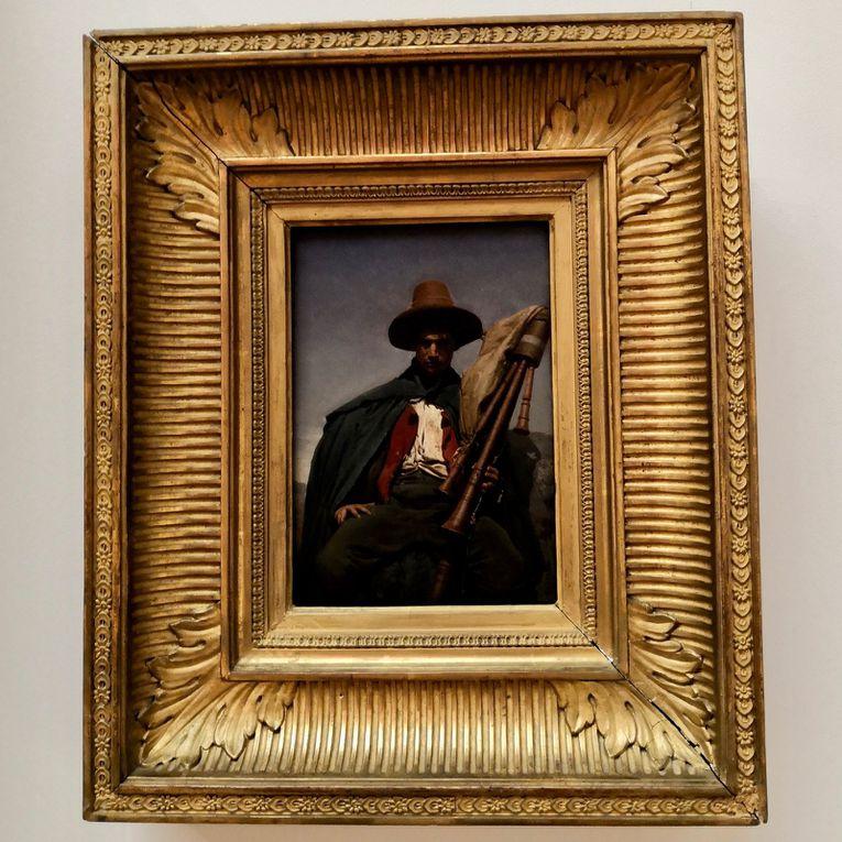 Jean-Léon Gérôme, Pifferaro [joueur de fifre], 1856, Huile sur papier collé sur bois