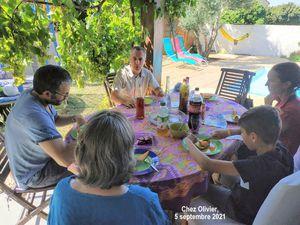 Repas partagé chez Olivier et Anne, 5 septembre 2021