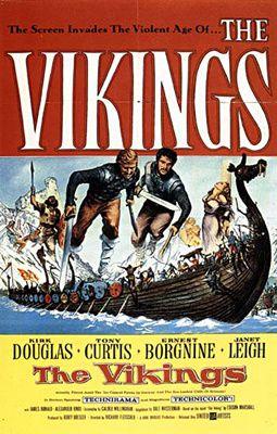 Les Vikings de Richard Fleischer avec Kirk Douglas - Tony Curtis - Janet Leigh - Ernest Borgnine - James Donald - Frank Thring - Alexander Knox - Maxine Audley - Orson Welles