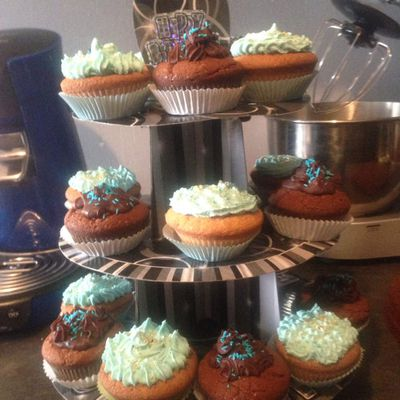 Cup cake tout choco et vanille