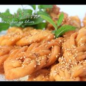 Comment faire griwech tresse gateau algerien / Algerian sesame cookies with honey