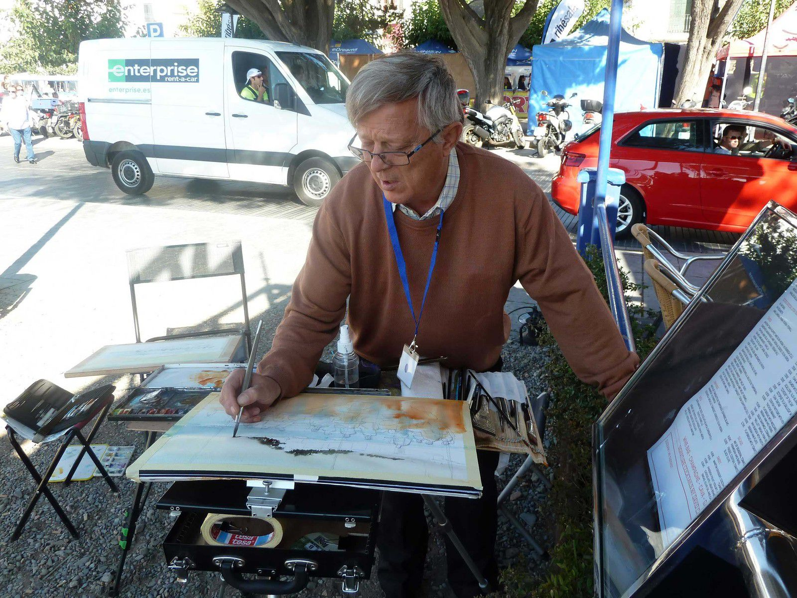 Stage d'aquarelle en immersion avec  Thierry de Marichalar