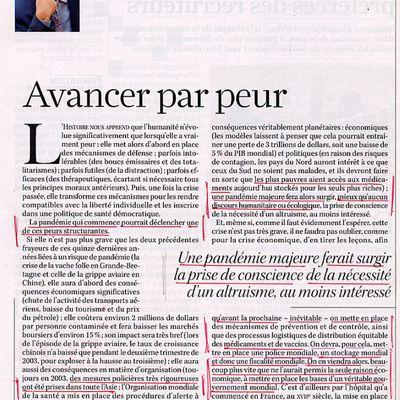 La peur des pandémies pour avancer vers le Nouvel Ordre Mondial (J. Attali, 2009)