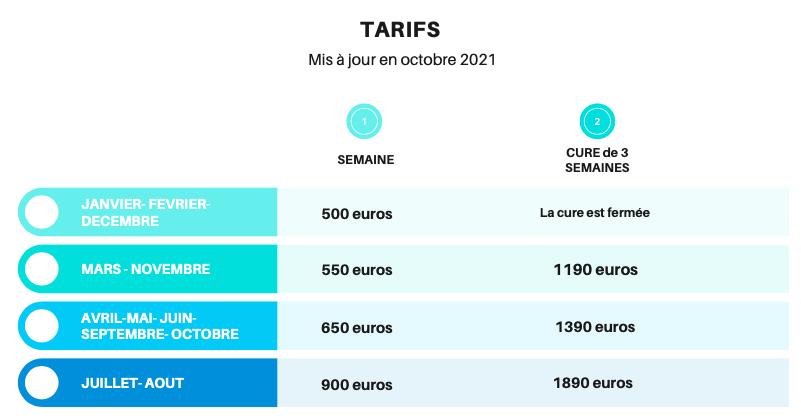 Ces tarifs s'entendent hors consommation électrique, et hors taxe de séjour.