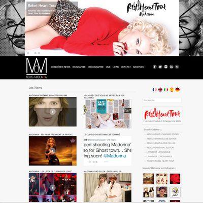 Nouveau site news-of-madonna.com
