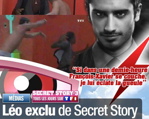 Léo exclu de Secret Story pour violences sur FX ! (Mis à jour)