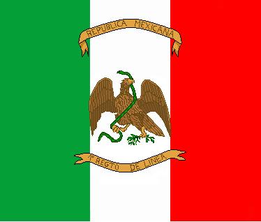 Le drapeau d'infanterie mexicain