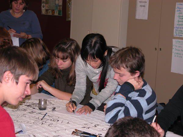 Atelier Calligraphie , Lycée Perdiguier