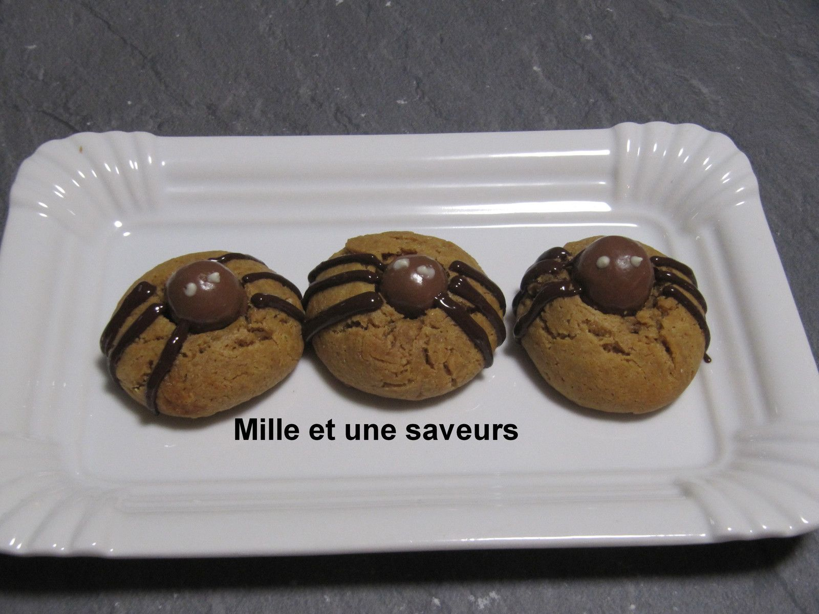Araignée cookies au beurre de cacahuètes