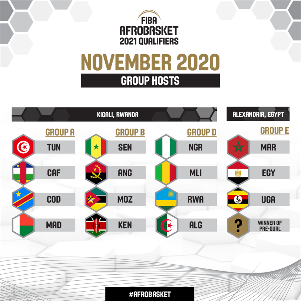 Kigali (Rwanda) et Alexandrie (Égypte) accueilleront les éliminatoires du FIBA AfroBasket en novembre