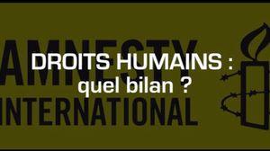 Droits humains: bilan de 2013