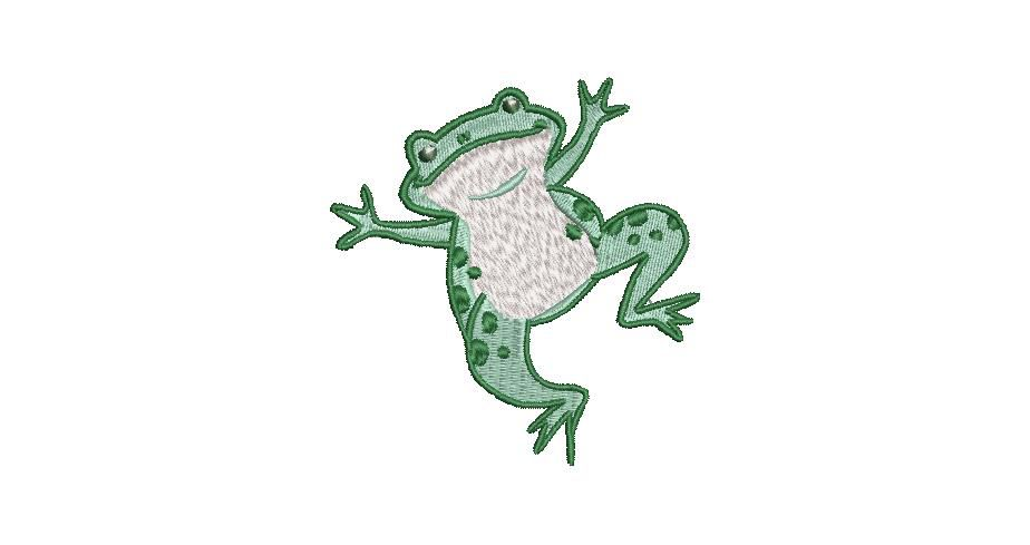 BRODERIE PETITE GRENOUILLE