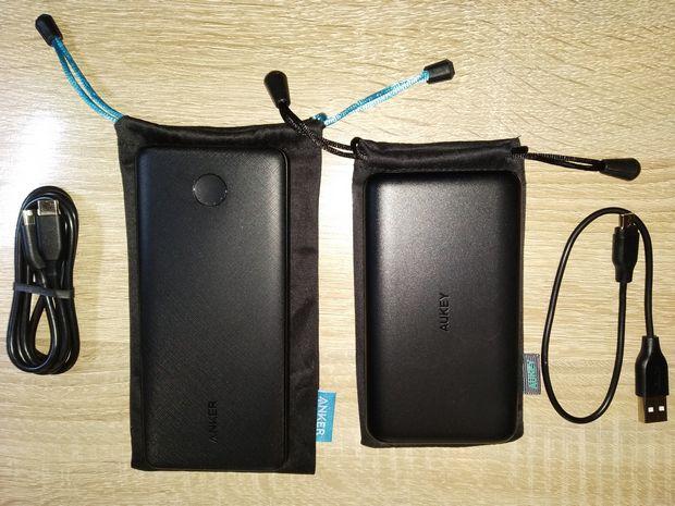 Duel de batteries externes 10.000 mAh avec port USB type C Power Delivery 18 Watts - Anker PowerCore Slim vs Aukey PB-Y13