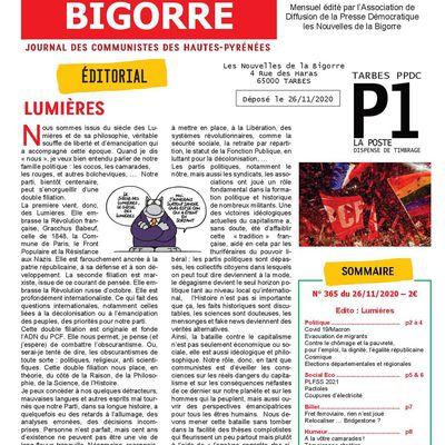 Nouvelles de la Bigorre n°365 du 26 novembre 2020