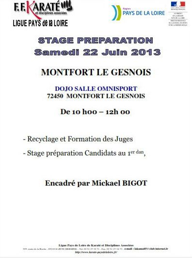 Stage préparation