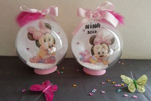 centres de table Baptême minnie