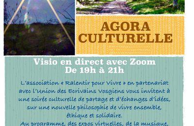 Emission audio Agora du 16 Avril 2021. Expos virtuelles. Reportage Philmo Journaliste Agora - Union des Ecrivains Vosgiens