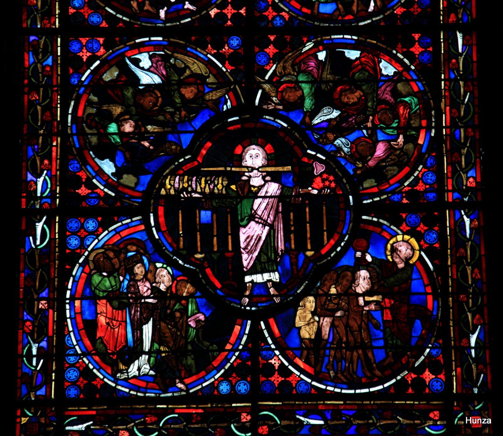Cathédrale de Bourges, vitrail de l'apocalypse
