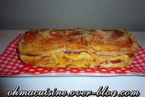 Cake croque monsieur italien (pesto, mozza ...)