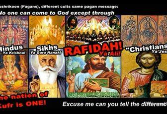 Voyez-vous une différence ? (Hindouisme, Shikhisme, Chiisme, Christianisme)
