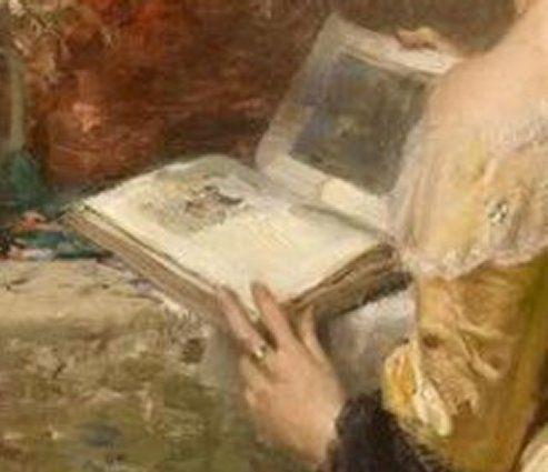 Le Tableau du Samedi: Fernand Toussaint, Afternoon Reading