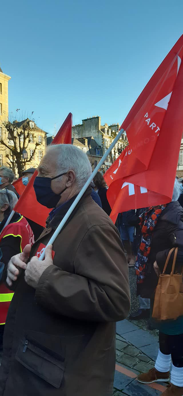 Pierre-Yves Thomas, élu communiste à Carhaix (photo Jean-Luc Le Calvez)