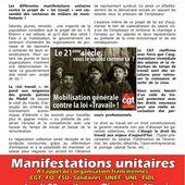 Jeudi 28 avril: Manifestation à Paris contre la Loi Travail