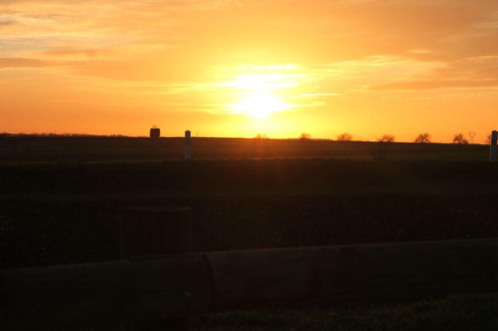 Coucher de soleil sur Niort
