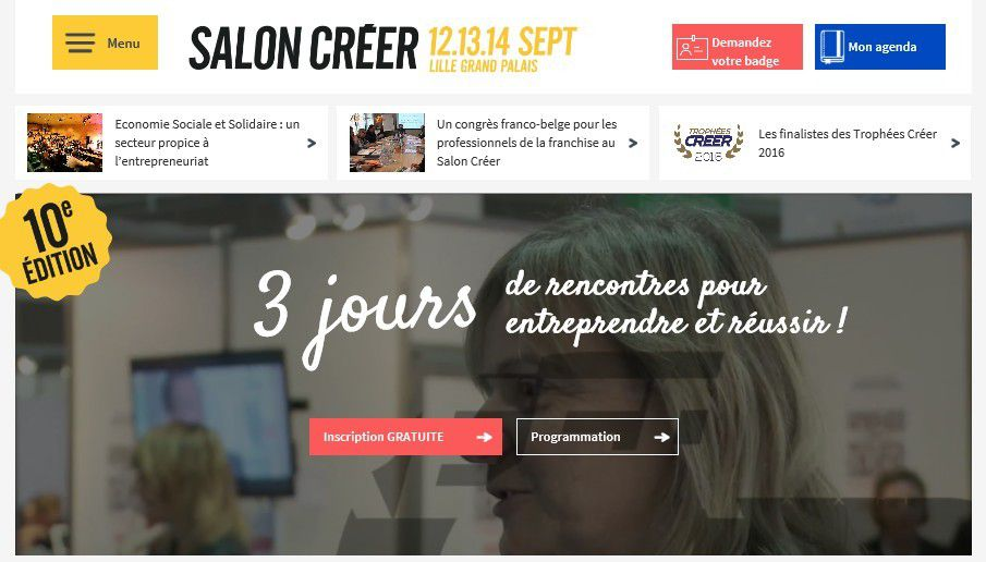 Grande distribution : Salon Créer de Lille le 12 septembre 2016