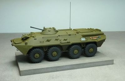 Impression 3D  : transport de troupe BTR-80  (1/50 - par Jean-Charles) - ajout de photos