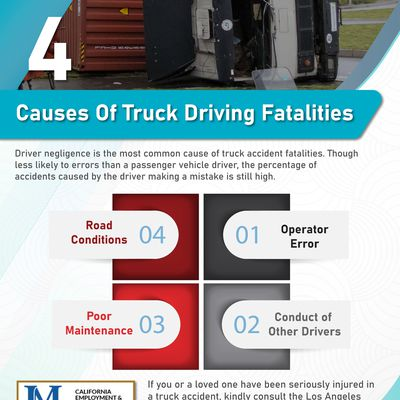 4 Causes Of Truck Driving Fatalities