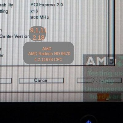 """Comment supprimer le logo """"AMD Testing use only"""" sous fedora 19"""