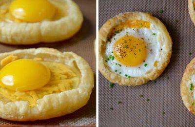 Tartaletas de huevo y queso