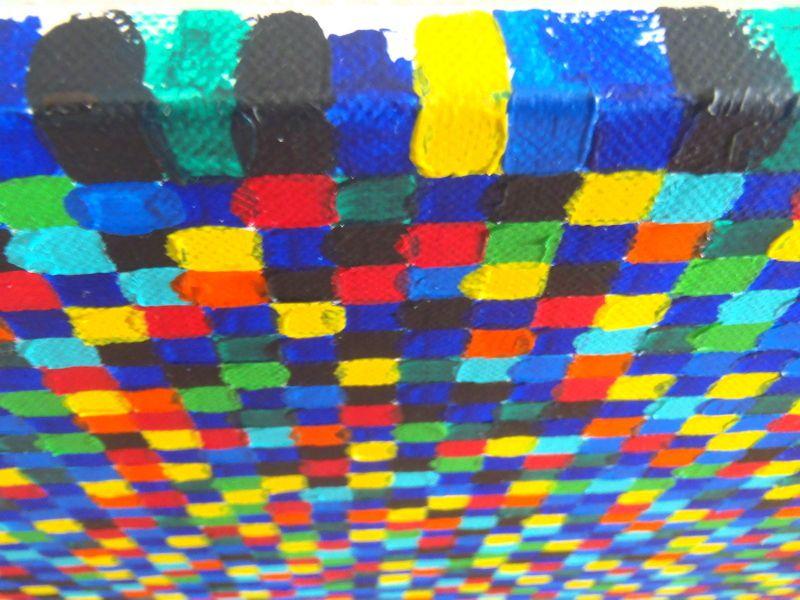 Coiffe bolivienne - Acrylique sur toile