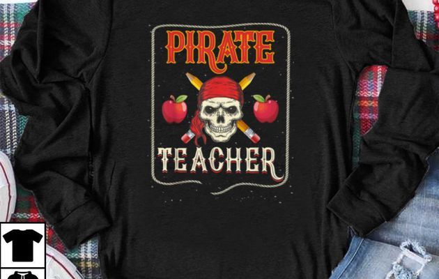 Premium Pirate Teacher Funny Halloween Skull Adult Gift shirt