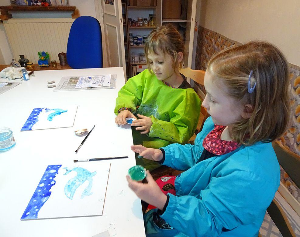 stage peinture a tempera enfants